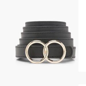 Boohoo double ring belt